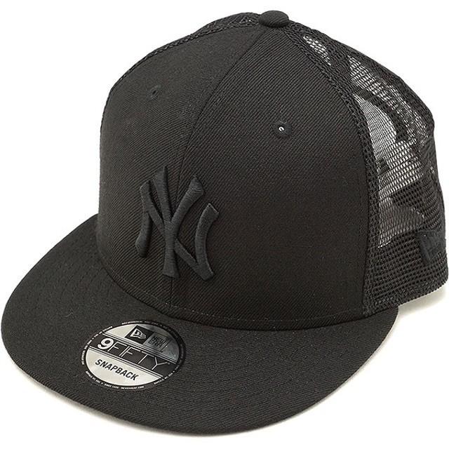 NEWERA ニューエラ キャップ 帽子 9FIFTY TRUCKER NEYYAN ニューヨーク・ヤンキース トラッカー メッシュキャップ BLK/BLK NEW ERA  11480304 FW17