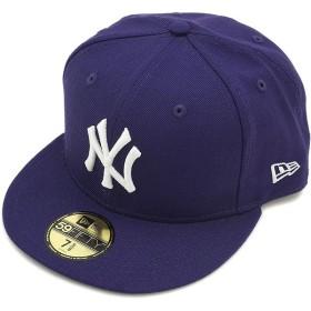 NEWERA ニューエラ NEWERA キャップ MLB カスタム 59FIFTY ニューヨーク・ヤンキース パープル/ホワイト  11308548