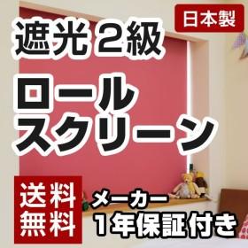 日本製 ロールスクリーン オーダー 1cm単位 遮光2級タイプ 幅25~40cm 高さ30~90cm タチカワブラインドグループ 代引不可