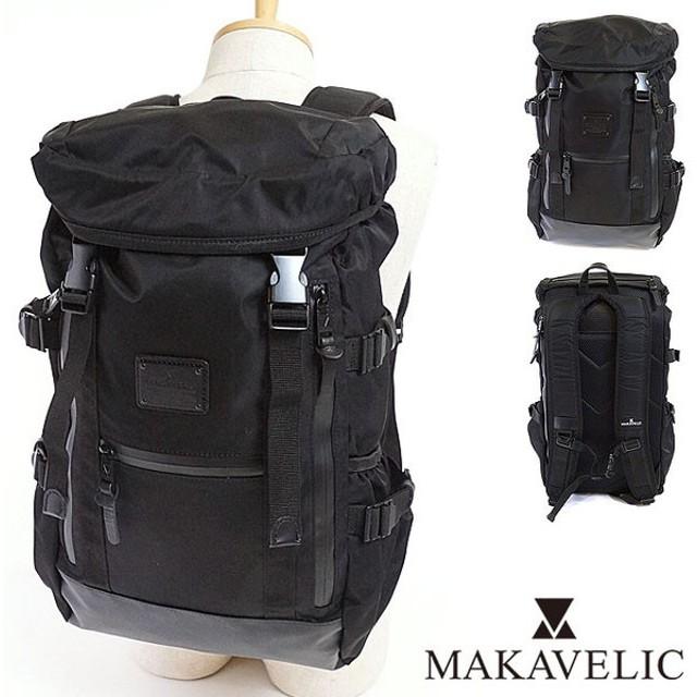 限定モデル MAKAVELIC マキャベリック リュック シエラ ダブルベルト バックパック M ブラックエディション ブラック  3107-10102 SS17