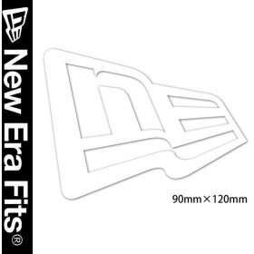 NEWERA ニューエラ STICKER ダイカットステッカー フラッグロゴ ホワイト N0005944 SC/11099449 NEW ERA メール便対応