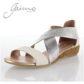 gaimo ガイモ NOVER MIA 71 靴 エスパドリーユ クロスベルト サンダル ウェッジヒール 厚底 ジュート繊維 ホワイト レディース 白 セール