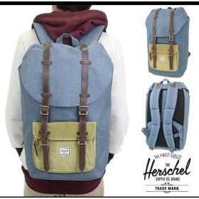 Herschel Supply ハーシェル サプライ バッグ リトルアメリカ バックパック NAVY-CROSSHATCH/STRAW  10014-00515-OS HO14