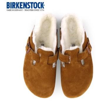 ビルケンシュトック BIRKENSTOCK ボストン ファー ボア BOSTON Fur 1001141 レディース サンダル サボ クロッグ 靴 ブラウン ミンク 本革