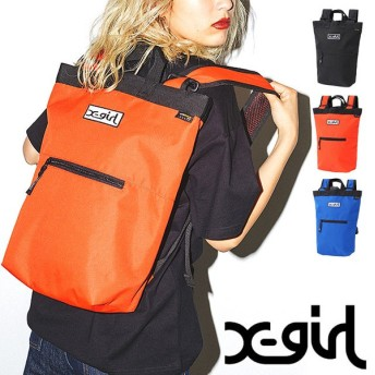 X-girl エックスガール リュック SQUARE BACKPACK スクエア バックパック 5173042 FW17