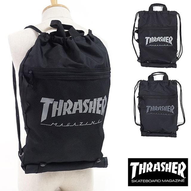 スラッシャー THRASHER ボードナップサック ボード収納バッグ メンズ・レディース ブラック THRSG120 SS18