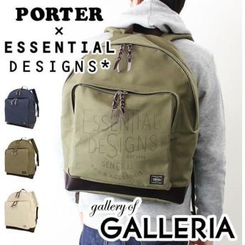 エッセンシャルデザインズ×ポーター バッグ リュック デイパック リュックサック ESSENTIAL DESIGNS×PORTER キャンバス×レザーシリーズ E143801