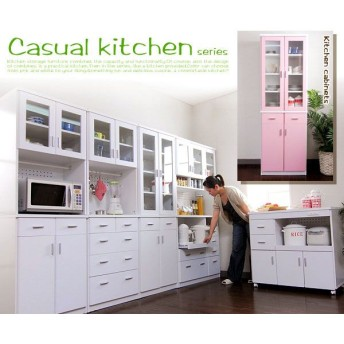 カジュアルキッチンシリーズ 幅60 扉食器棚(fr-027) キッチン収納 キッチン ダイニング 食器 食器棚 カップボード 収納家具 インテリア
