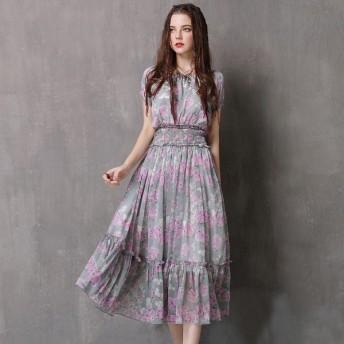 レディース ワンピース ロング丈 ピンク シンプル デザイン 半袖 部屋着 ロング ワンピ A82072