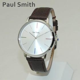 ポールスミス 時計 メンズ P10100 MA Paul Smith 腕時計 ウォッチ レザー ブラウン/シルバー