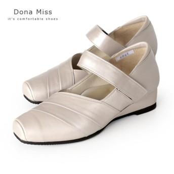 コンフォート パンプス Dona Miss ドナミス 4044 オークP ワイズ 3E 本革 コンフォートシューズ ストラップシューズ レディース 靴