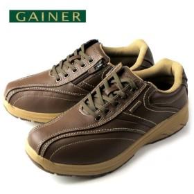 ウォーキングシューズ 靴 メンズ GAINER ゲイナー GN003 オリーブ スニーカー コンフォートシューズ 4E
