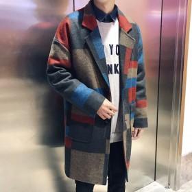 アウター チェスターコート コート ウールコート 長袖 ロングスリーブ オーバーサイズ メンズ 大きいサイズ カジュアル コーデ  日本未入荷