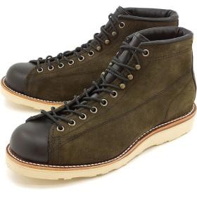 チペワ 5インチ ツートーン スエード ブリッジマン ブーツ CHIPPEWA メンズ 革靴 5-inch two-tone suede bridgemen boots EEワイズ チョコレートモス  CP1901M79