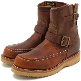 チペワ ウーマンズ 7インチ ハイランダーズ ブーツ CHIPPEWA レディース 革靴 womens 7-inch highlanders boots Mワイズ タン  CP1901W08