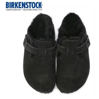 ビルケンシュトック BIRKENSTOCK ボストン ファー ボア BOSTON Fur 0259883 レディース サンダル サボ クロッグ ブラック 黒 本革 セール