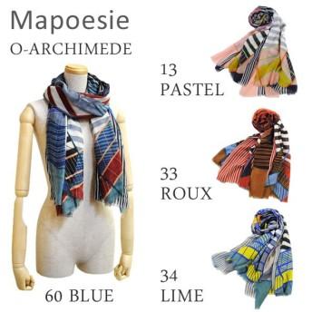 Mapoesie マポエジー ストール O-ARCHIMEDE 13 PASTEL 33 ROUX 34 LIME 60 BLUE レディース スカーフ/マフラー