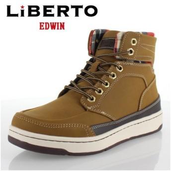 リベルトエドウィン LIBERTO EDWIN L60246 イエロー メンズ ブーツハイカットスニーカー 防水設計