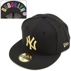 ニューエラ NEWERA キャップ ニューヨーク・ヤンキース フィフティーナインフィフティー BROOKLYN マルチカラー BK/GD  N0020750 SS14 NEW ERA