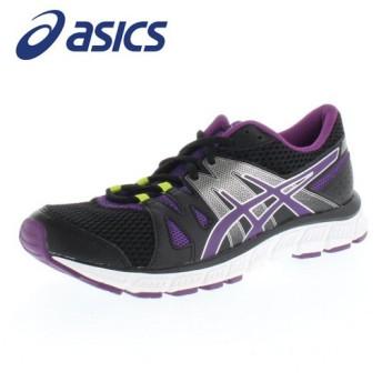 asics アシックス TJA335 LADY GEL-UNIFIRE BP-9033 ブラック/パープル レディース ランニングシューズ 幅広 セール