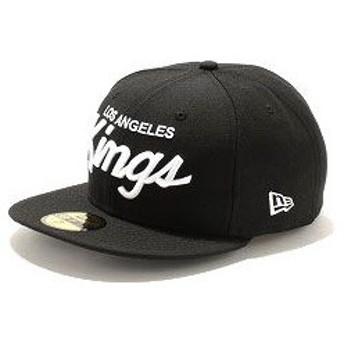 NEWERA ニューエラ 59FIFTY NHL ロサンゼルス・キングス ブラック/ホワイト 11308592