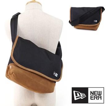 NEWERA ニューエラ キャップ New Era 9L Shoulder Bag Suede ショルダーバッグ スエード 鞄 ブラック/ホワイト  11474292 FW17