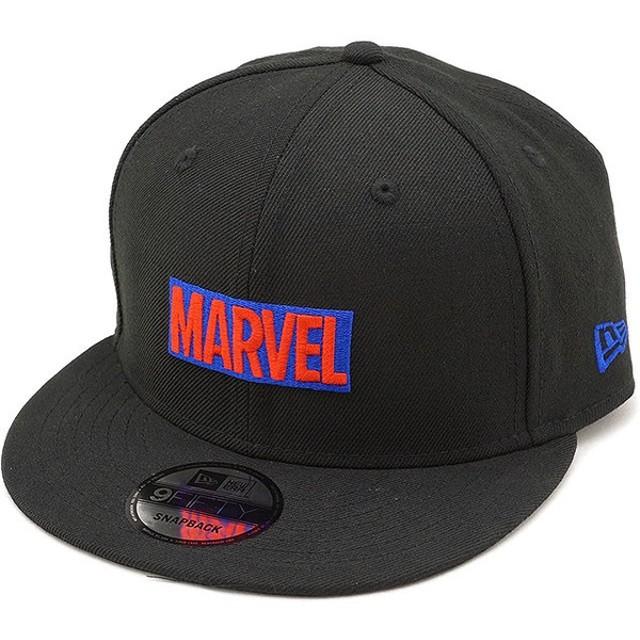 e203217eb189b3 NEWERA ニューエラ キャップ New Era MARVEL マーベル ロゴ 9FIFTY スナップバック ベースボールキャップ 帽子 ブラック