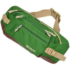 GRAVIS グラビス バッグ SHUTTLE BAG ウェストバッグ シャトルバッグ GREEN/BISON(斜めがけ ショルダー)(269020 SS12)