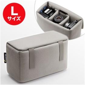 インナーカメラバッグ Lサイズ(ソフトクッションボックス・グレー) WEB企画品 NEO2-BG019LGY★