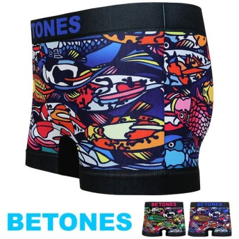 メール便送料無料 BETONES ビトーンズ メンズ ボクサーパンツ 鯉柄 シームレスパンツ DINHO-DIH001 SS18 メール便対応