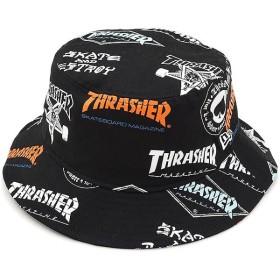 NEWERA ニューエラ キャップ New Era THRASHER LOGO スラッシャーロゴ BUCKET01 バケットハット 帽子 プリント/Sホワイト  11521877 FW17