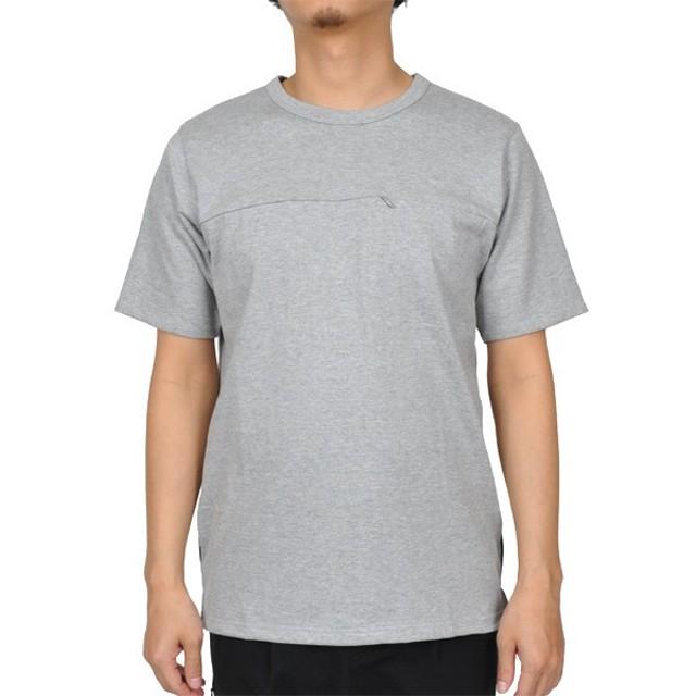 グラスノート GrassNote Zip Pocket T-shirt TopGray
