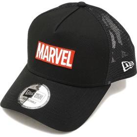 NEWERA ニューエラ キャップ New Era MARVEL マーベル ロゴ 9FORTY AF トラッカー スナップバック メッシュキャップ 帽子 ブラック/Sホワイト  11538463 FW17