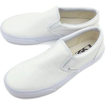 VANS バンズ スニーカー メンズ レディース スリッポン カリフォルニア クラシック スリップオン  Croc LeatherTRUE WHITE  VN-03CVHF8 SS15