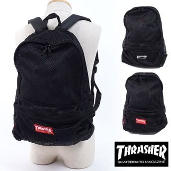 スラッシャー THRASHER 1Pバックパック リュックサック デイパック バッグ メンズ・レディース ブラック THRMS5900 SS18
