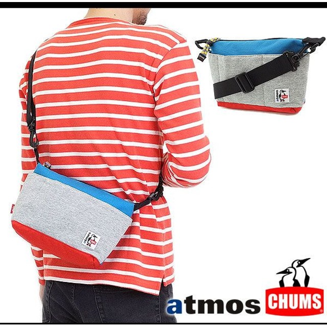 CHUMS×atmos チャムス×アトモス バッグ ショルダーバッグ Mini Collect Shoulder BLUE/GRAY  ACU-NC-S200 SS14