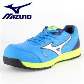 ミズノ 安全靴 MIZUNO オールマイティ 紐タイプ C1GA160024 ブルー×シルバー×ネイビー ワーキング スニーカー セーフティーシューズ 作業靴 メンズ 3E