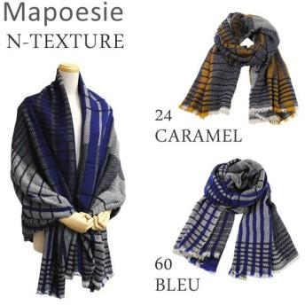 Mapoesie マポエジー ストール N-TEXTURE 24 CARAMEL 60 BLEU レディース スカーフ/マフラー