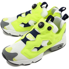 Reebok リーボック スニーカー ポンプフューリー WHITE/NEON YELLOW/ATHLETIC NAVY/FLAT GRAY M40935 SS14