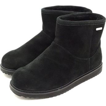 emu エミュー ムートンブーツ パターソン ミニ  ウォータープルーフスウェード/シープスキン BLACK エミュ ブーツ BOOTS W10946 FW15