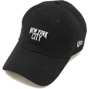 NEWERA ニューエラ キャップ New Era メルトン NYC 9TWENTY クロスストラップ ベースボールキャップ 帽子 ブラック/Sホワイト 11538473 FW17