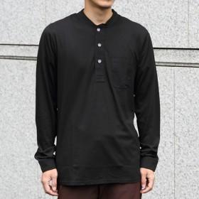 スワーブ SWRVE cotton/Modal_long sleeve henley black コットン モダール ロング スリーブ ヘンリー シャツ 長袖