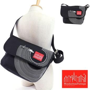 マンハッタンポーテージ キャンバスアートプリント ビンテージメッセンジャーバッグ ManhattanPortage Vintage Messenger Bag ブラック   MP1606VJRART FW16