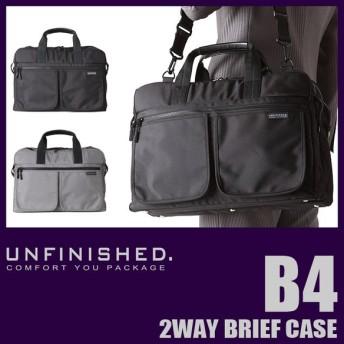 追加最大+24%|【在庫限り】アンフィニッシュド unfinished ビジネスバッグ ブリーフケース 2WAY 大容量 B4 自立 メンズ 47033