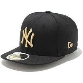 NEWERA ニューエラ NEW ERA キャップ キッズ KIDS 59FIFTY ニューヨーク ヤンキース COLOR CUSTOM ブラック/メタリックゴールド CAP 帽子  11310410 NEW ERA