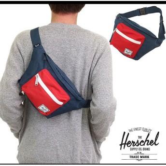 Herschel Supply ハーシェル サプライ バッグ セブンティーン ヒップパック ボディバッグ ワンショルダー NAVY/RED 10017-00018-OS FW14