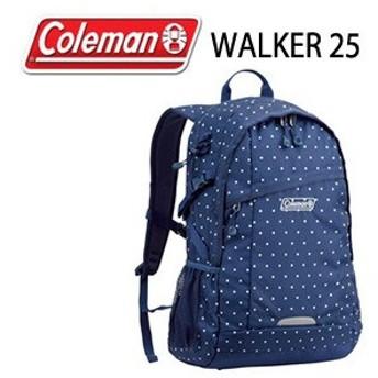 コールマン Coleman WALKER 25 CBB4501ND ネイビードット リュック バッグ デイバッグ