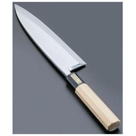 SA佐文 本焼鏡面仕上 出刃 木製サヤ TKG 21cm