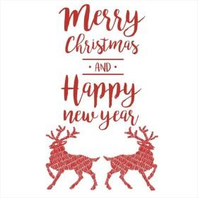 ウォールステッカー クリスマス Christmas 飾り 90×90cm Lsize シール式 装飾 オーナメント ツリー リース 2018 xmas Xmas 015090