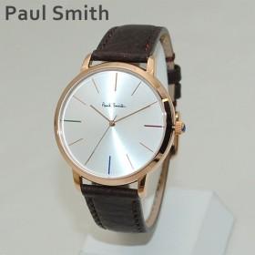 ポールスミス 時計 メンズ P10101 MA Paul Smith 腕時計 ウォッチ レザー ブラウン/ピンクゴールド